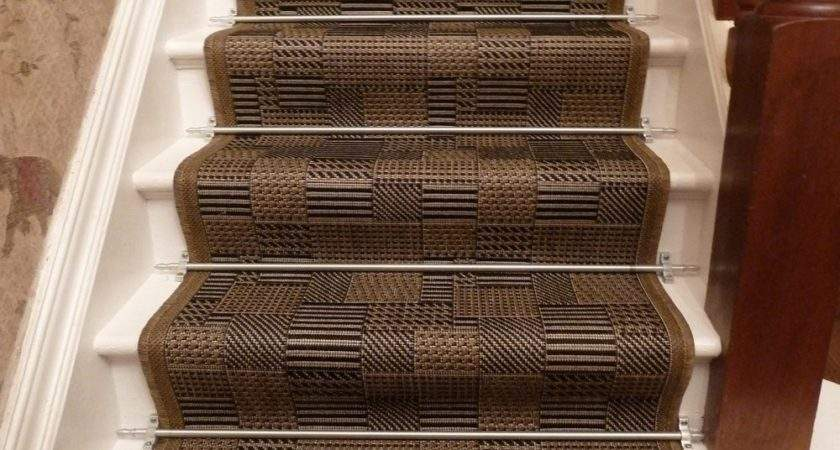 Brown Stair Runner Rug Tetris Carpet Runners