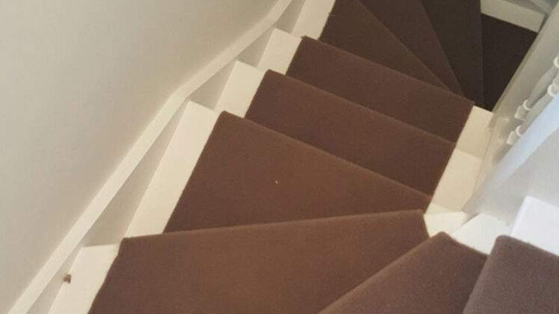 Brown Whipped Carpet Stair Runner Flooring Group
