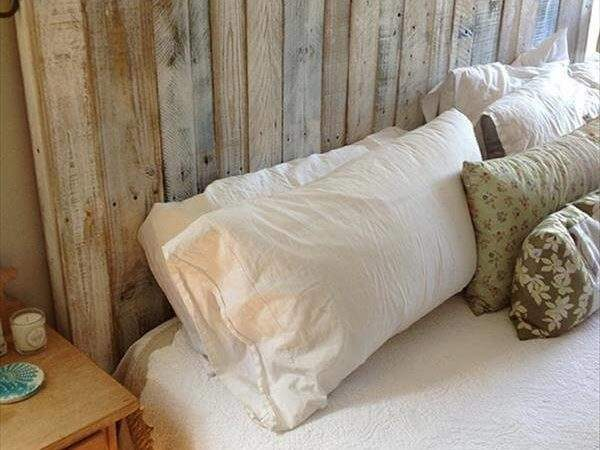 Build Simple Pallet Headboard Pallets