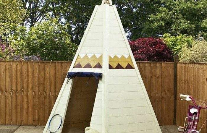 Build Your Kids Wooden Teepee Tent Diy Projects