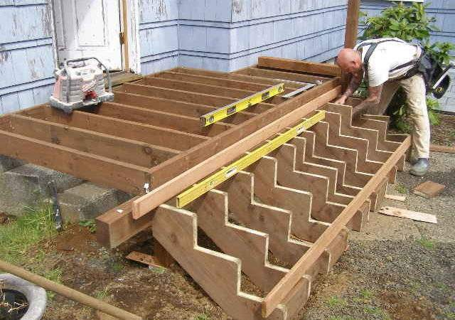 Building Deck Stairs Professional Way