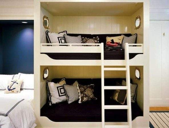 Built Bunk Beds Traditional Boy Room Hutker