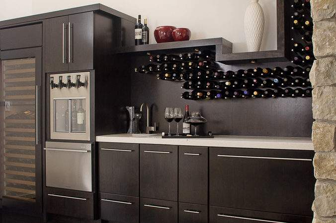 Built Kitchen Wine Rack Dining Room Contemporary