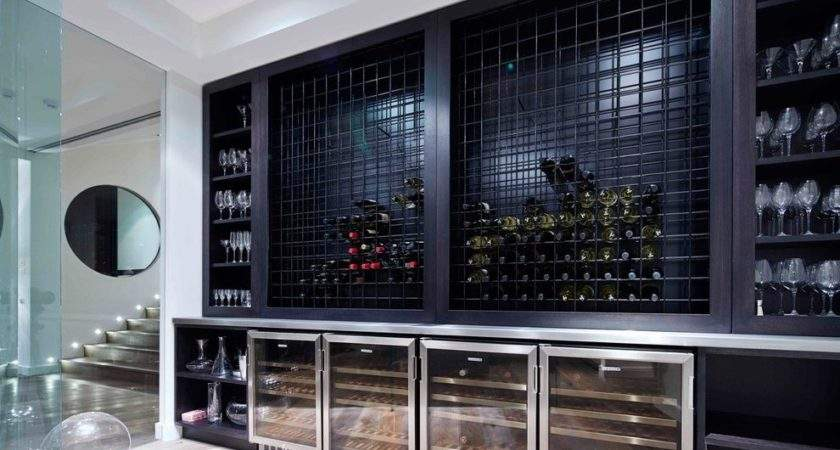 Built Wine Rack Kitchen Contemporary Stainless