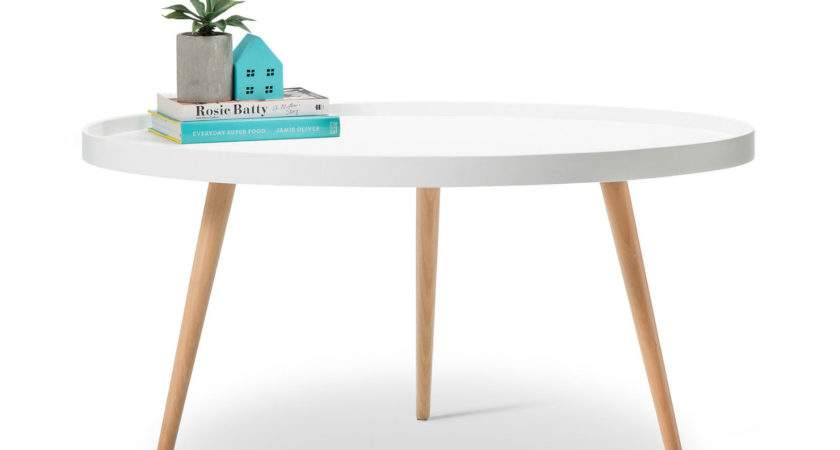 Bunch Ideas Retro White Coffee Table Additional