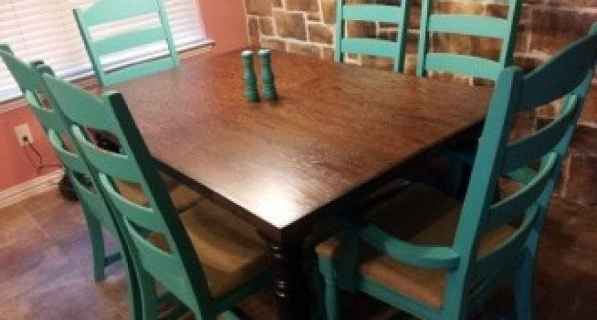 Burlap Dining Chairs Turquoise Kitchen Table