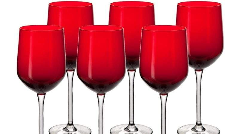 Buy Abc Wine Glass Red India
