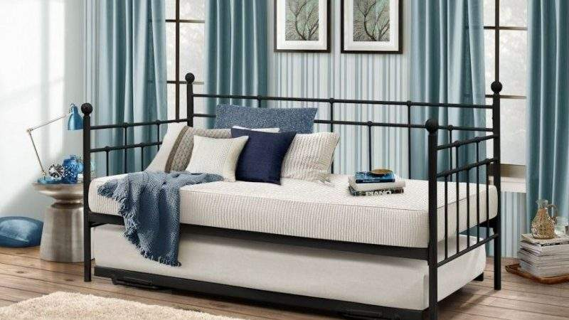 Buy Birlea Lyon Black Metal Daybed Cfs