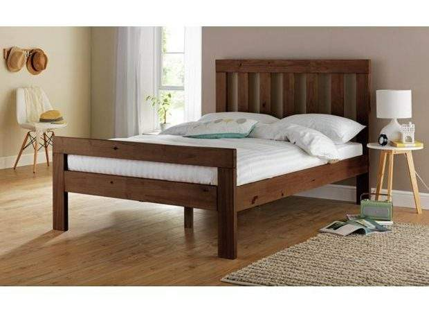 Buy Collection Chile Small Double Bed Frame Dark Stain