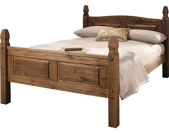 Buy Collection Puerto Rico Double Bed Frame Dark Pine