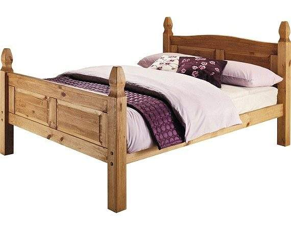 Buy Collection Puerto Rico Double Bed Frame Light Pine