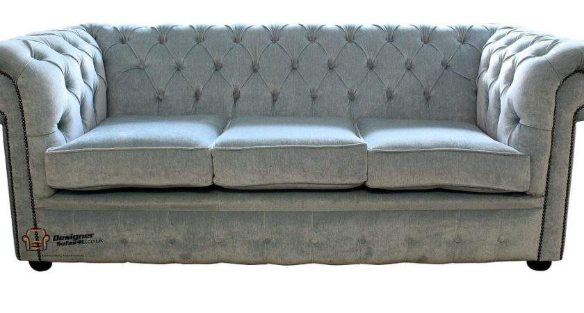Buy Duck Egg Blue Fabric Chesterfield Designersofas