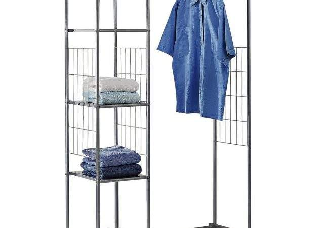 Buy Home Clothes Rail Shelves Silver Argos
