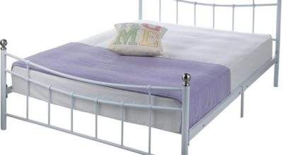 Buy Home Darla Double Bed Frame White Argos