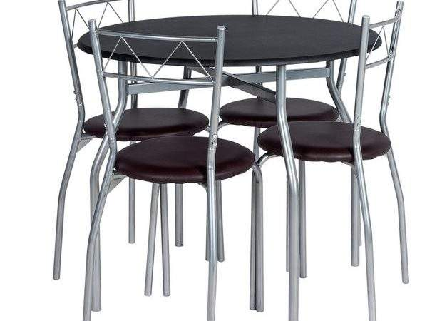 Buy Home Oslo Round Dining Table Chairs Black