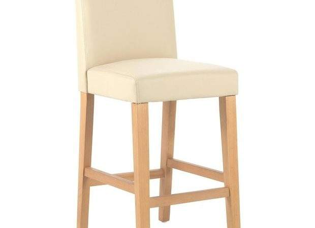 Buy Home Winslow Cream Oak Stain Leather Effect Bar Stool