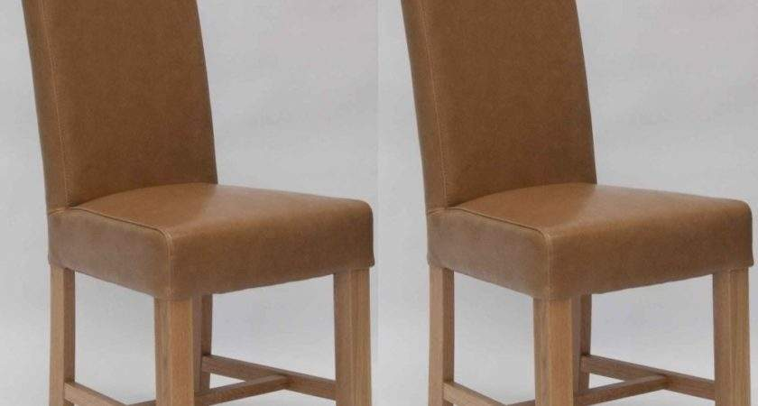 Buy Homestyle Louisa Bycast Leather Dining Chair Tan