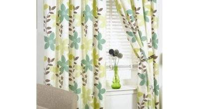 Buy Izabelle Green Cream Curtains