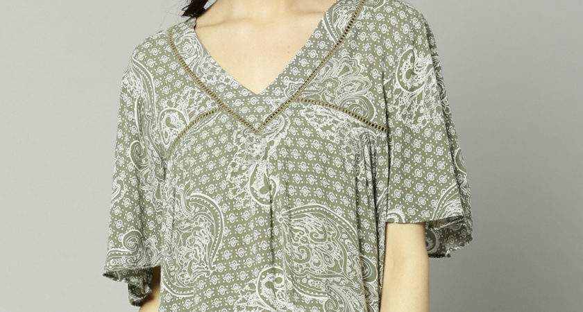 Buy Marks Spencer Olive Green Ethnic Printed Top