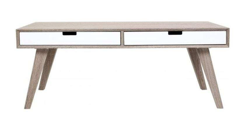 Buy Retro Style Wood White Veneer Coffee Table