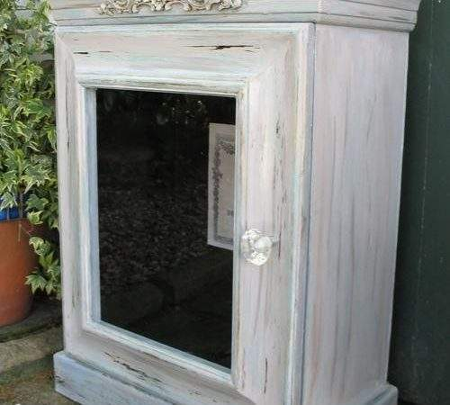 Cabinets Vintage French Style Wood Display Bathroom