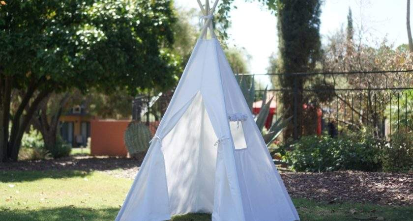 Canopy Kids Teepee Unbleached Canvas Play