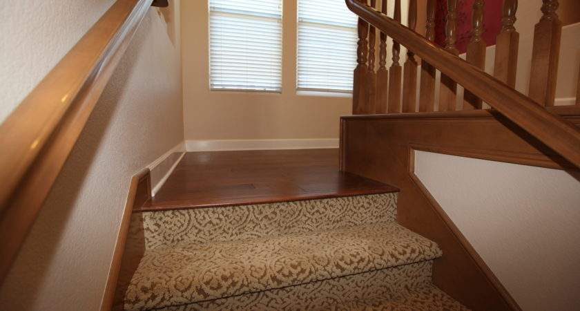 Carpet Stairs Wooden Floor Landing Hardwoods Design Easy