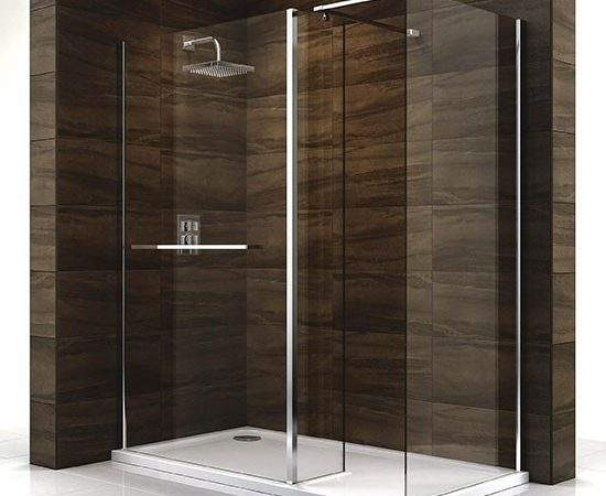 Cascata Shower Screen Tray Walk Showers