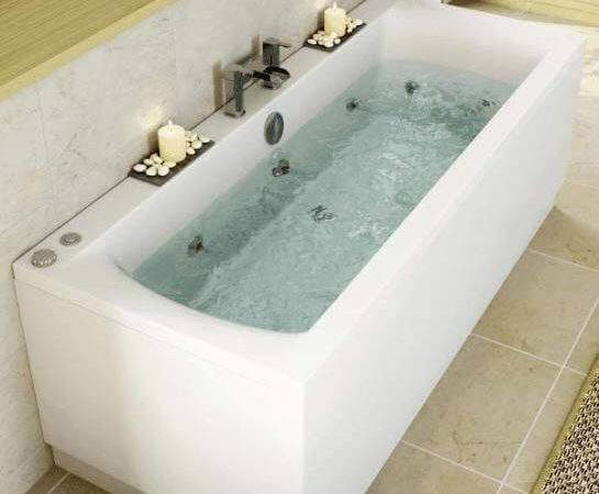 Ceramica Double Ended Square Bath Jet Whirlpool