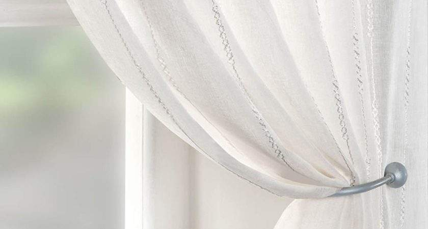 Chain Voile Curtain Panel White Delivery