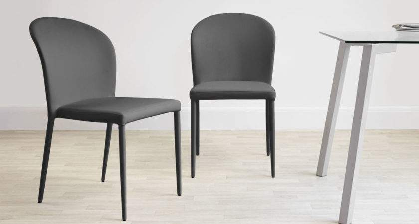 Chairs Marvellous Gray Leather Dining Grey Fabric