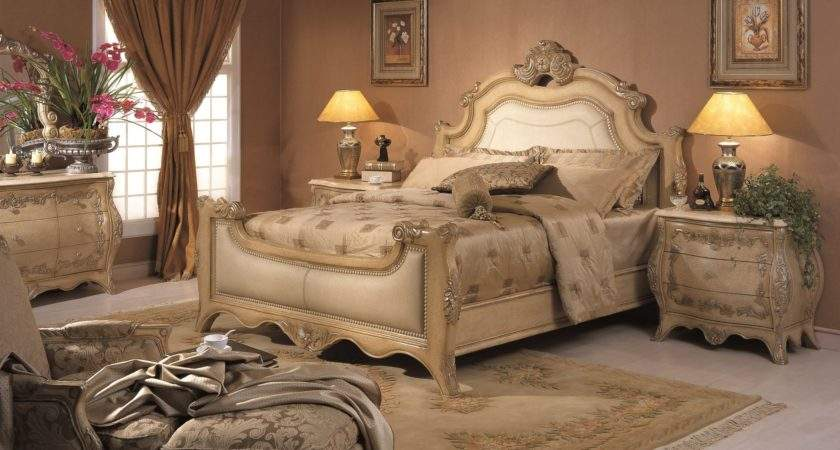 Chateau Formal Bedroom Collection Antique Bisque