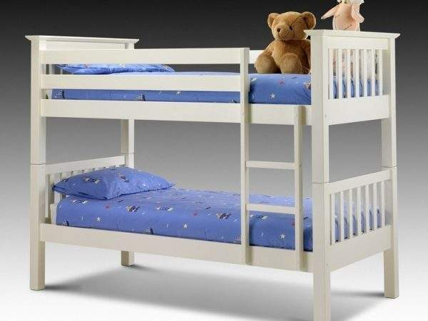 Cheap Julian Bowen Barcelona Stone White Bunk Bed Sale