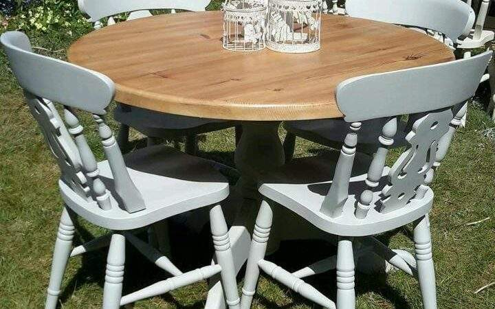 Cheap Shabby Chic Dining Table Chairs Top