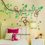 Cheeky Monkey Jungle Tree Wall Stickers Art Decal Baby