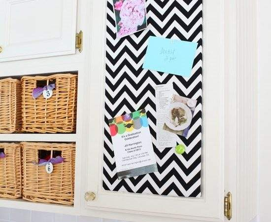 Chevron Pin Board Transitional Kitchen Own Style