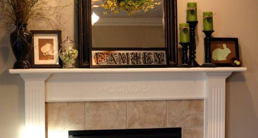 Chic Shoestring Decorating Easter Mantel Cheap