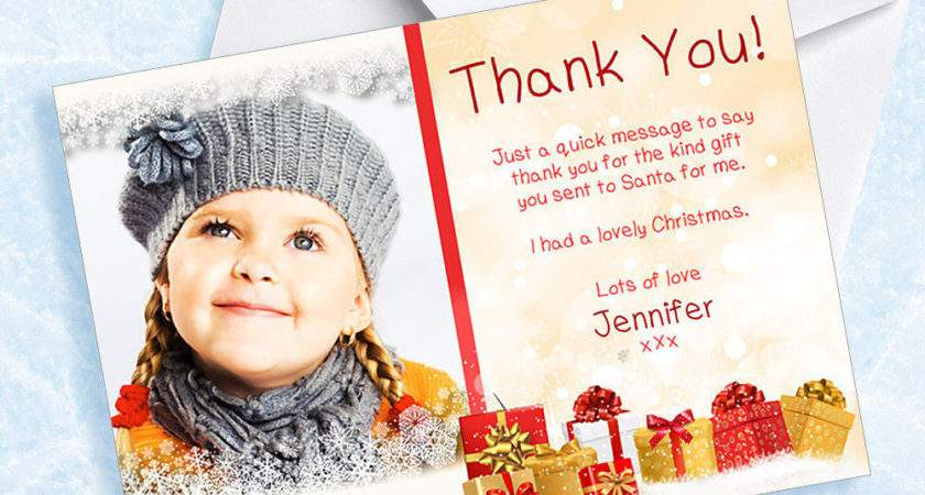 Childrens Christmas Present Personalised Thank