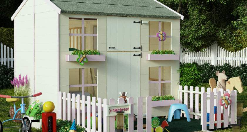 Childrens Wooden Playhouses Shedsdirect