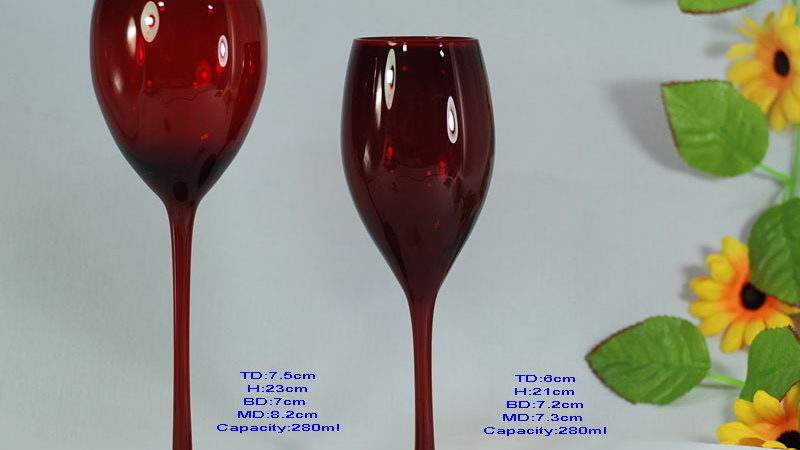 China Red Wine Glass Colored