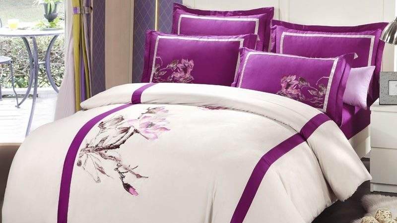 Chinese Style Oriental Embroidered Bedding Set Queen King