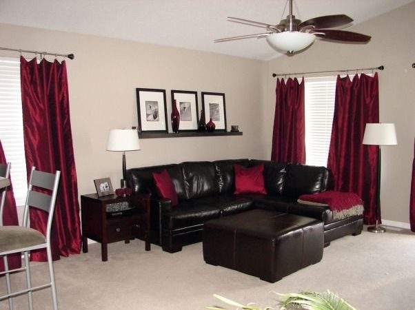 Chocolate Brown Red Living Room Home