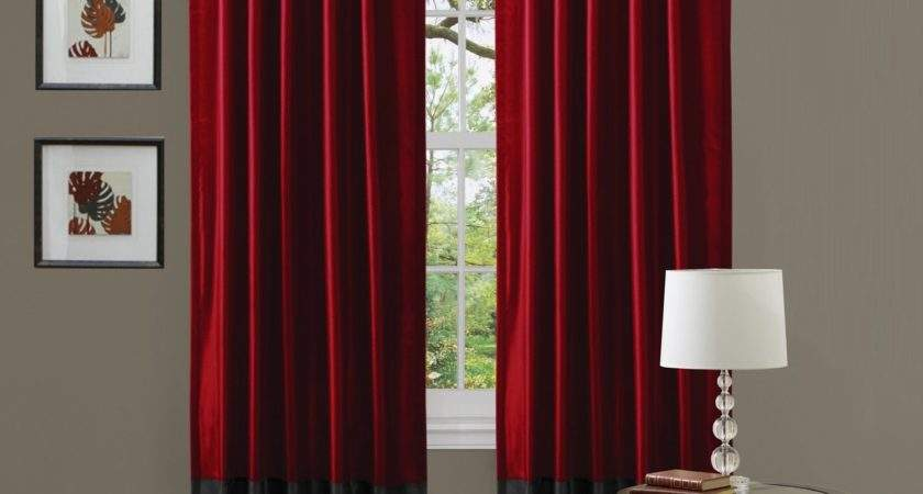 Choose Black Red Curtains Living Room