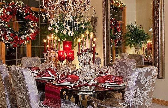 Christmas Dining Room Decorating Ideas Festive Flair