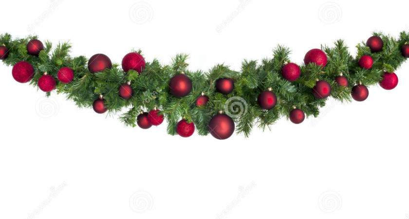 Christmas Garland Red Baubles