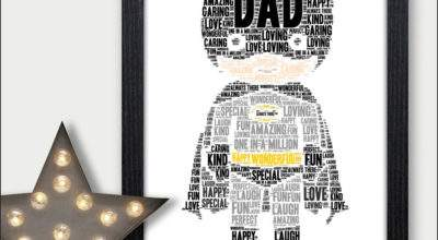 Christmas Gifts Dad Personalised Star Gift