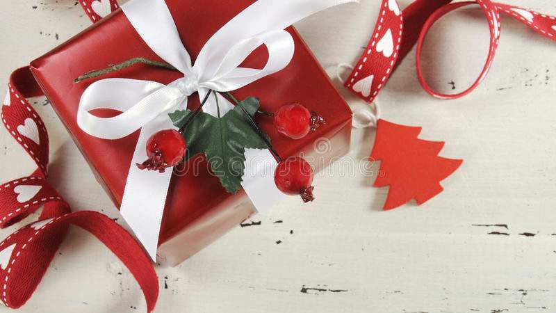 Christmas Holiday Red White Theme Gift