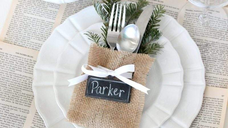 Christmas Place Settings Easy Sew Flatware Pouch
