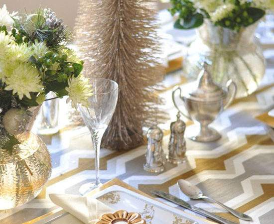 Christmas Table Ideas Decorating Silver Gold