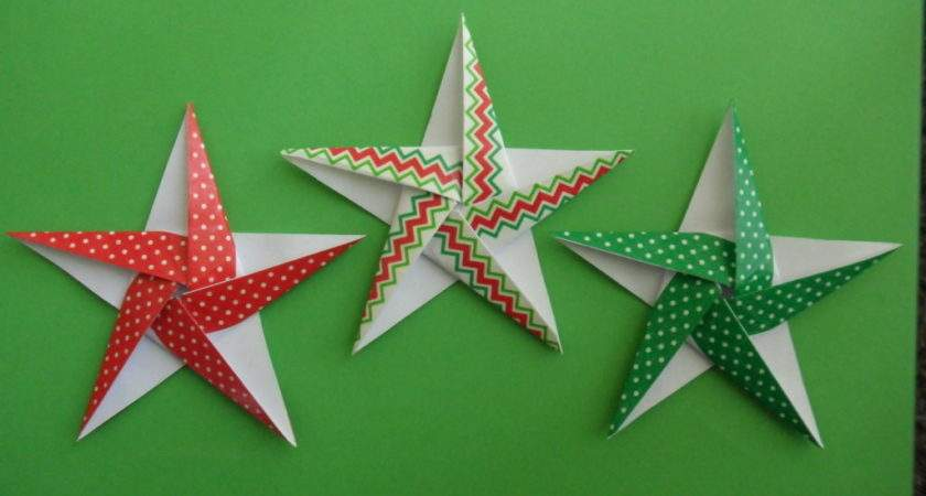 Christmas Themed Pointed Origami Stars